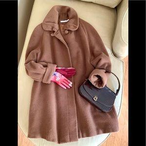 PERRY ELLIS DESIGNER Trendy Caramel Wool Coat